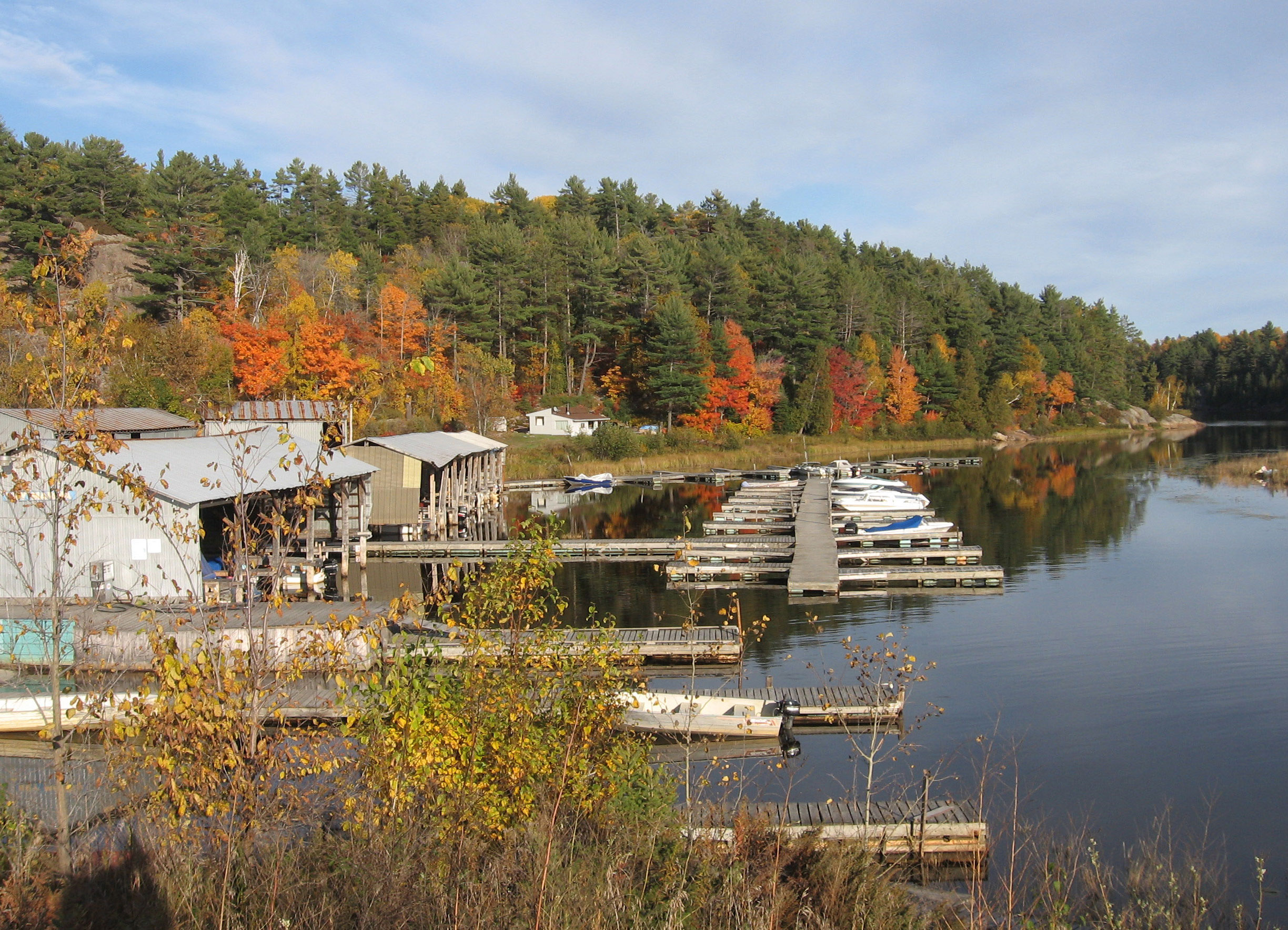 keymarina, about 50km south of Sudbury