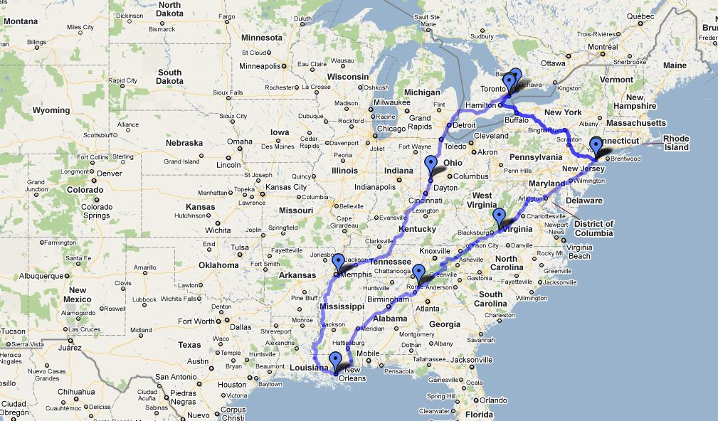 Best Ways To Travel From Toronto US Destinations CreditWalkca - Toronto on us map