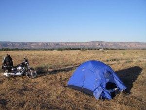 Motorcycle Campsite