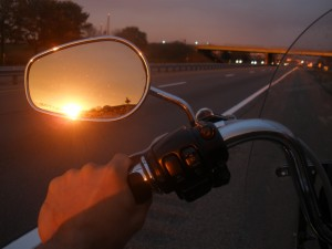 Motorcycle traveling