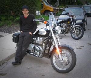 Brent and his Triumph America 800