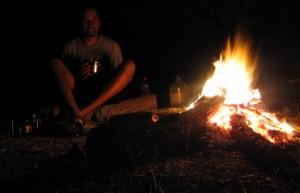 A roaring campfire in Northwest Argentina
