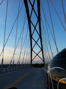 Champlain Bridge into Vermont