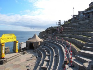 The Minack Theatre- a still functioning theatre built into the cliffside overlooking the ocean.